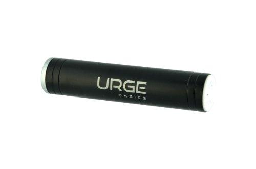 UrgeBasics 2600mAh Flash Tube Pro Portable Battery Charger for Smartphones - Retail Packaging - Black - Urge Basics Portable Power