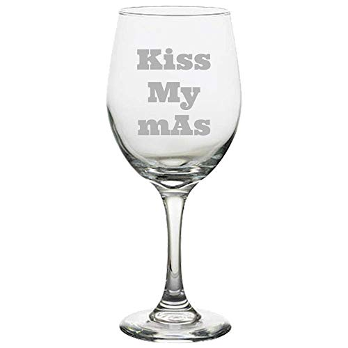 Funny Radiology Wine Glass - Radiologic Technologist - Rad Tech Gift - Radiographer - X-Ray Tech - Kiss My mAs