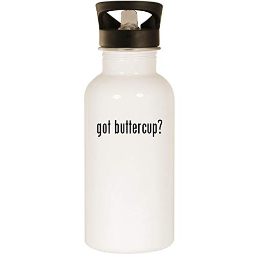 got buttercup? - Stainless Steel 20oz Road Ready Water Bottle, White -