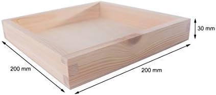 SEARCH BOX Caja de Almacenamiento de Madera Cuadrada Bandeja de ...