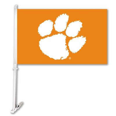 Clemson Two Sided Car Flags BSI