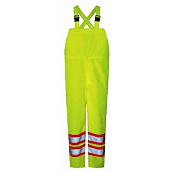 Safety Maxx 150D Bib Pants Size: X-Large, Color: Fluorescent Green