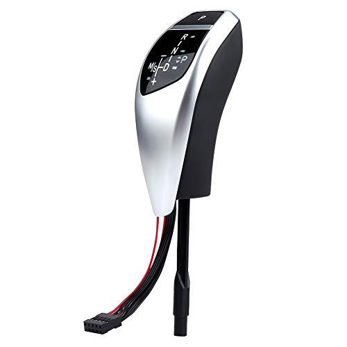 (Gear Shift Knob Shifter,Automatic Car Gear Shifter Knob Touch Activated Sensor LHD Automatic LED Shift Knob Gear Shifter Lever for (BMW) E46 E60 E61 E63 E64(Carbon Fiber 22))