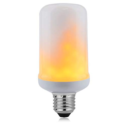 Minecraft Pumpkin Light (Vintage Edison LED Bulb, E26 Bulb,4 Modes with Upside Down Effect,Dimmable 6W, E26 Apply in Valentine's Day and Other Romantic Occasion (E26-6W-LED Flame)