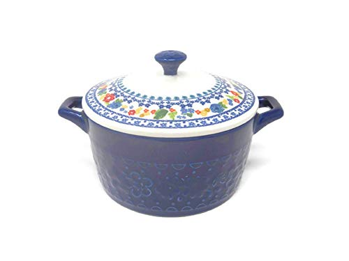 Pioneer Woman Mini Casserole with Lid (14.4 oz, Cobalt)
