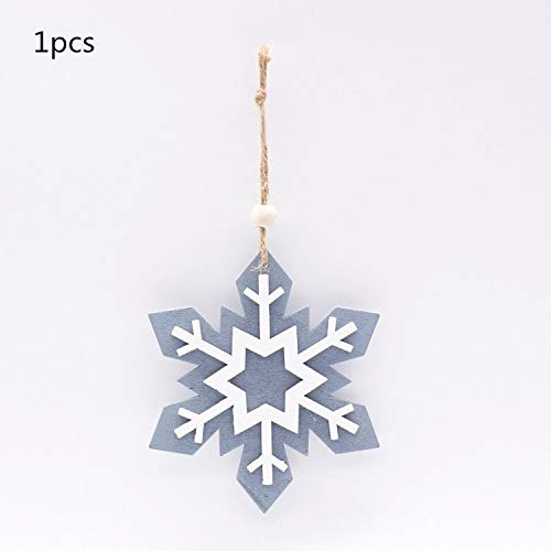 JEWH Christmas Wooden Pendants - DIY Wood Crafts Star&Heart - Xmas Tree Hanging Ornaments - Christmas Party for Kids - Gift Home Decorations (Stretch 7) -
