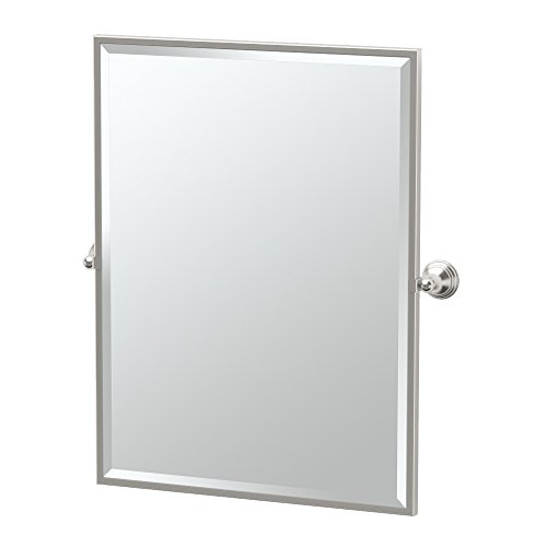 Gatco 4369FS Charlotte Framed Large Rectangle Mirror, Satin Nickel