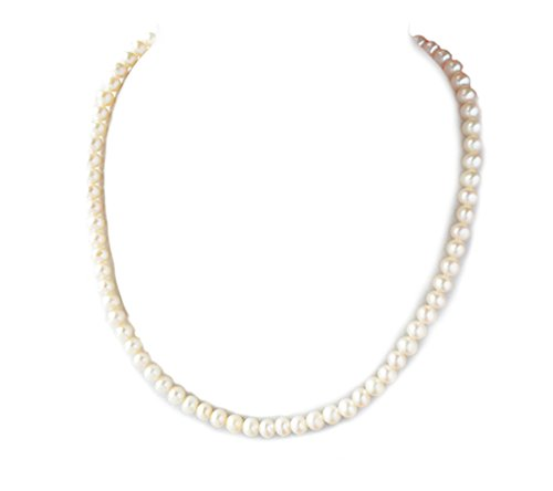 - Rakumi Pearl Necklace 5mm White Freshwater Cultured Pearl Necklace 17