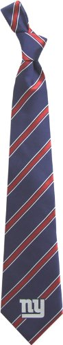 New York Giants Woven Poly Necktie - Poly 1 by Eagles Wings