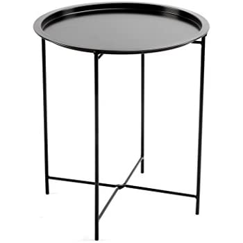 Finnhomy small round side end table sofa for Small metal console table