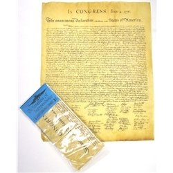 Declaration of Independence Replica of the Original Document 12 x 14.5""