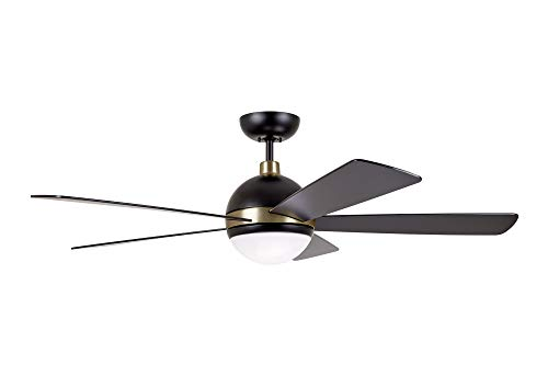 Emerson CF235BQ Astor Ceiling Fan Barbebque Black with Satin Gold Accents