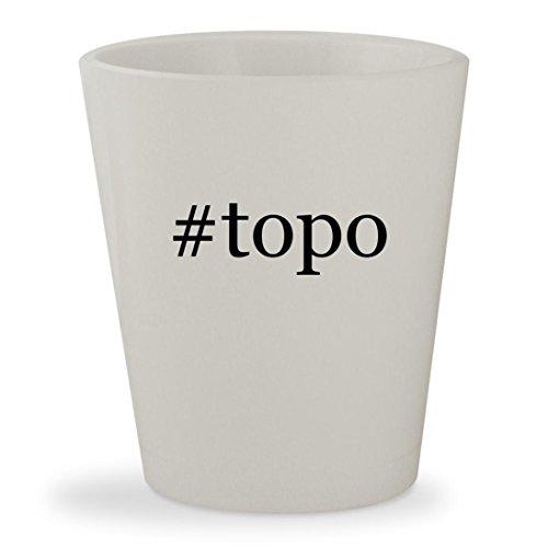Price comparison product image #topo - White Hashtag Ceramic 1.5oz Shot Glass