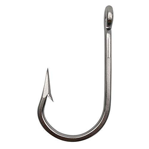 g Hooks - Stainless Steel Southern Fish Hooks Forged Ringed 10Pcs/Bag for Big Game Fishing 7/0 ()