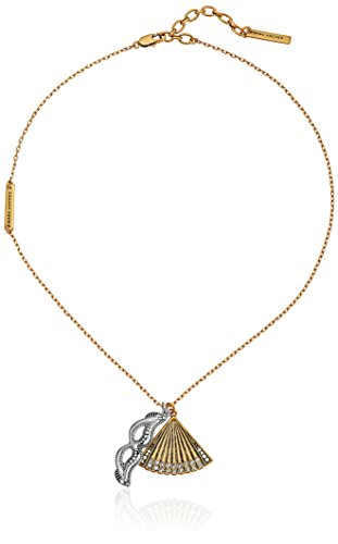 Marc Jacobs Charms Fan Mask Necklace, 16