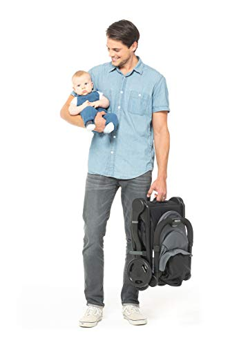 Ergobaby Metro Lightweight Baby Stroller, Compact Stroller with Easy One-Hand Fold, Grey