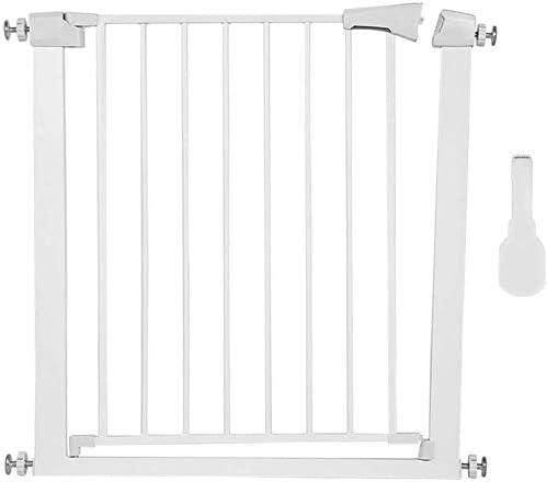 rejilla de protecci/ón de puerta estrecha color blanco rejilla de puerta de metal 96 cm 90/° sin taladrar rejilla de protecci/ón para escaleras Rejilla de protecci/ón de 75