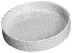 CoorsTek 60048 Porcelain Ceramic Capsule with Flat Bottom, 12mL Capacity, 45mm OD, 10mm Height (Case of 36) ()