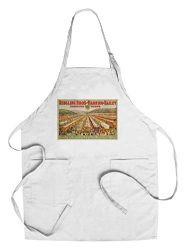 (Ringling Bros and Barnum and Bailey - 100 Railway Cars USA c. 1923 - Vintage Advertisement (Cotton/Polyester Chef's Apron))