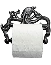 Comfify Decorative Cast Iron Octopus Toilet Paper Roll Holder – Wall Mounted Octopus Décor for Bathroom – Kraken, Nautical Bathroom Accessories – Easy to Install with Included Screws and Anchors