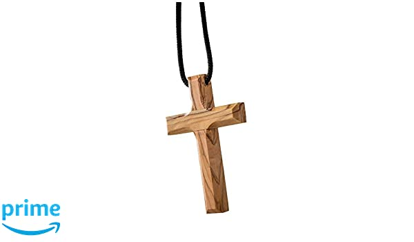 d441f60ef5c Earth Wood Rosario de Madera de Olivo con Cruz de Jerusalén  Amazon.es   Hogar