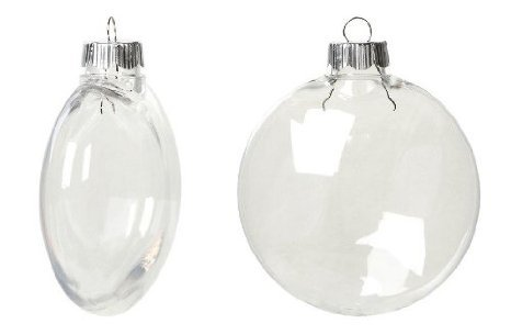Bulk Shatterproof Disc Ornament Clear 100mm X 42 Pieces 2610-66 (Disk Plastic)