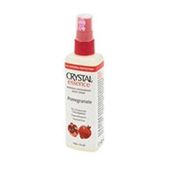 Crystal Essence Pomegranate Mineral Deodorant Body Spray, 4 Ounce – 6 per case.