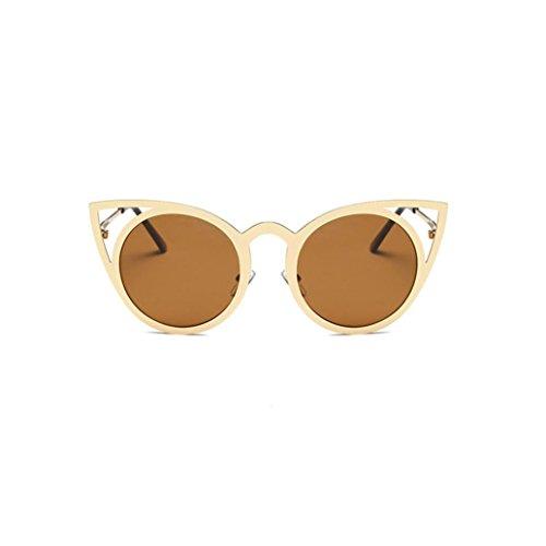 sol gafas marca Cat Oreja la de Mujeres Color Hombres Moda de de Gafas Classic metal Winwintom sol Frame C qzvwBCz