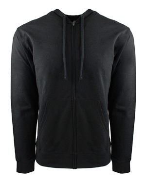 (Next Level Adult French Terry Zip Hoody (9601) -BLACK/BLAC -L)