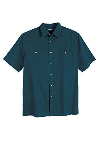- KingSize Men's Big & Tall Short Sleeve Solid Sport Shirt, Midnight Teal Big-7XL