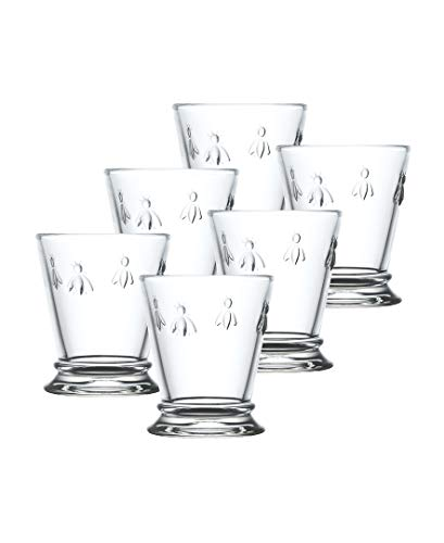 Extra Heavyweight Tumbler - La Rochere Set Of 6,10-ounce Napoleon Bee Tumblers, Clear