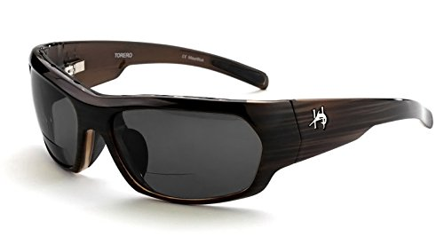 Ono's Torero (Grey Lens) Hemingway Polarized Bi-Focal Sunglasses Collection ; - Polarized Collection Reading Glasses