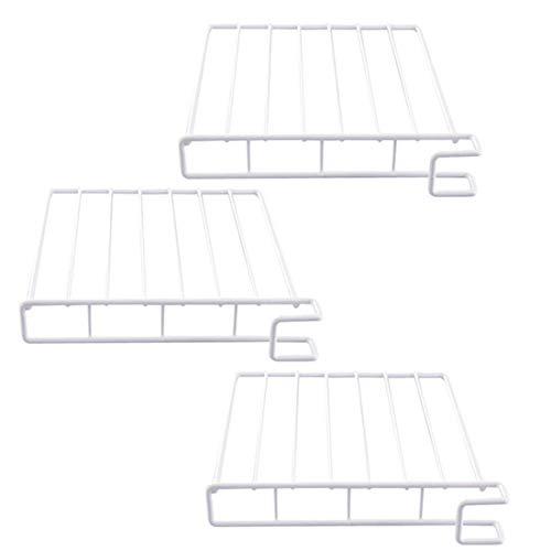 Dreamcolor Metal Closet Shelf Organizer Set of 3Wire Design Closet Shelf Dividers for Wooden Shelving