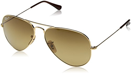 Ray-Ban Aviator Classic, Shiny Gold, 58 ()