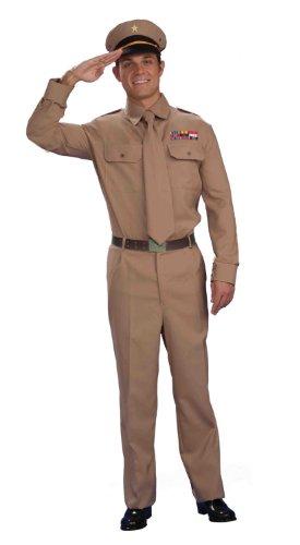 Forum Novelties Men's World War Heroes Costume General Shirt and Tie, Tan, One (40s Dress Costume)