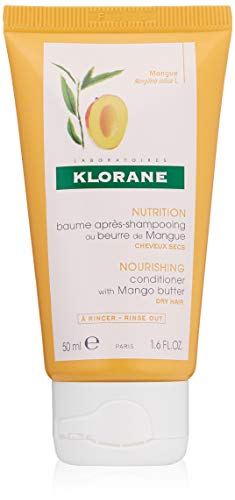 Klorane Nourishing Conditioner with Mango Butter, Moisturize and Hydrate Dry Hair, Paraben, Silicone, Sulfate Free, 1.6 oz.