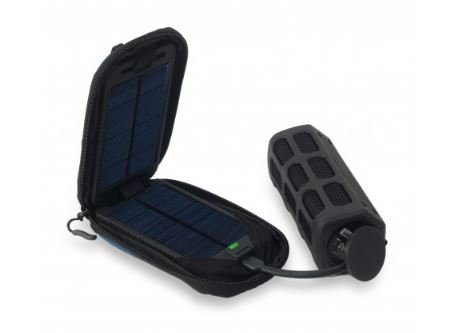 Powertraveller Adventurer Solar Powered Charger with Integrated Battery - Black by Powertraveller (Image #1)