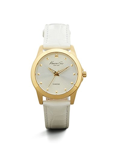 Kenneth Cole New York Women's KC2856 Rock Out Analog Display Japanese Quartz White Watch