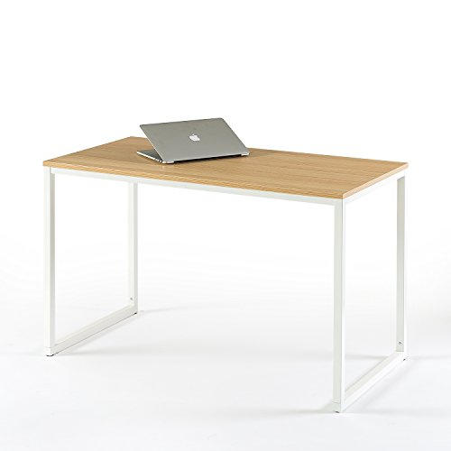 zinus modern studio collection soho desk/table/computer table, white