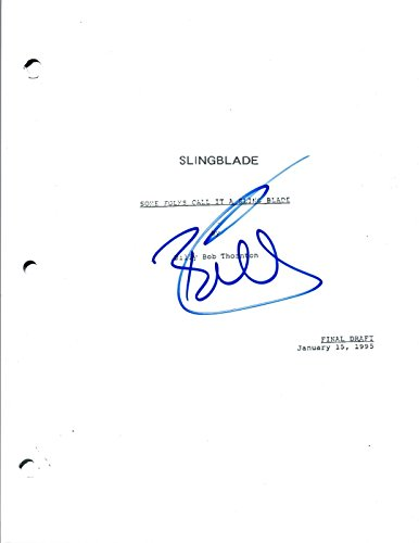 Billy Bob Thornton Signed Autographed SLINGBLADE Full Movie Script COA