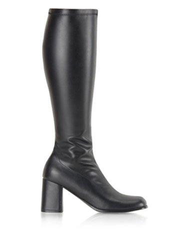 Stretch High Knee Boot (Funtasma by Pleaser Women's Gogo-300 Boot,Black Stretch,6 M US)