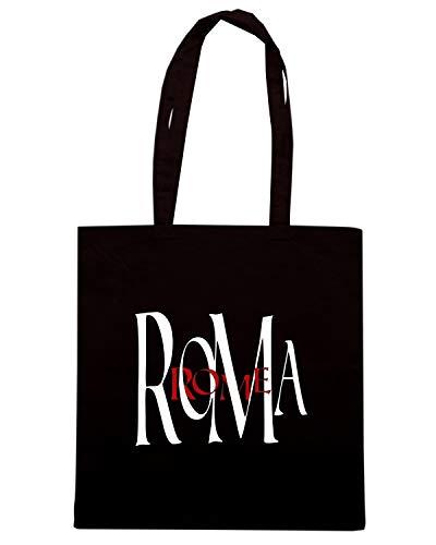 Speed ROMA Borsa TSTEM0198 Shirt Nera ROME Shopper ZwZqrTpWUA