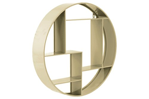 Urban Trends Metal Round Wall Shelf with 7 Slots and 2 Keyhole