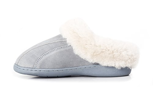 LAMB Women's Genuine Leather with Australian Sheepskin Slippers (8, (Lambskin Leather Platforms)