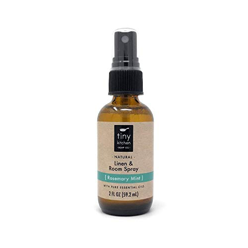 Mint Room Spray - Rosemary Mint Essential Oil Linen and Room Spray - Handmade Natural Air Freshener (2 oz)