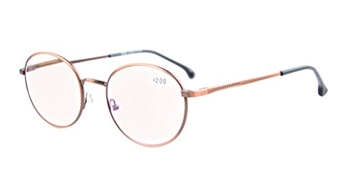 Eyekepper Quality Spring Temples Oval Round Computer Glasses Anti Glare Reading Glasses (+1.75, Anti Bronze) (Bronze Oval Spring)