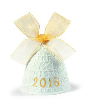 Lladro 2016 Annual Re- Deco Christmas Bell # 01018410 (gold finish)