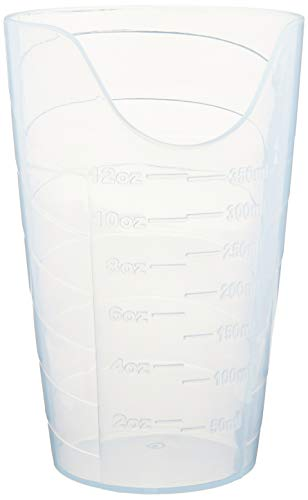 Sammons Preston Medical - Sammons Preston Nosey Cup, Cut Out Drinking Glass for Stable and Fixed Drinking Position, Functional Translucent Drink Cups for Medical Patients, 12 Ounces