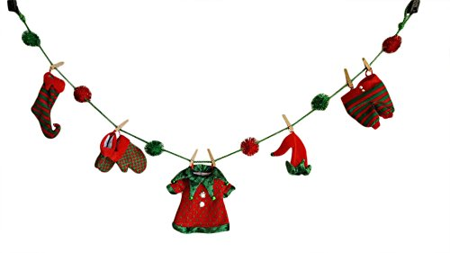 Merry Christmas Adorable Elf Decorations Laundry Garland ...