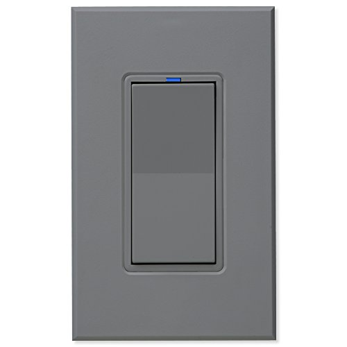 PCS PulseWorx UPB Wall Switch-Relay/Dimmer, Gray (WS1C-G)